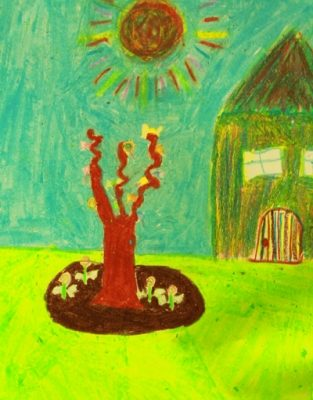 نقاشي خلاق . اثركارين جلالي . ۹ ساله . سال93