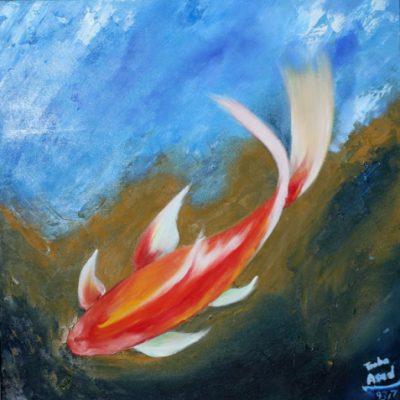 مربوط به دوره ي رنگ روغن نوجوان . طوبی اسد . ۱۱ ساله . سال ۹۳