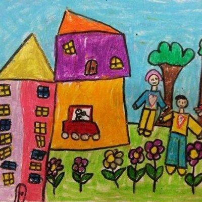 نقاشی خلاق . اثر کیان فکوری . ۷ساله .سال ۶ ۹