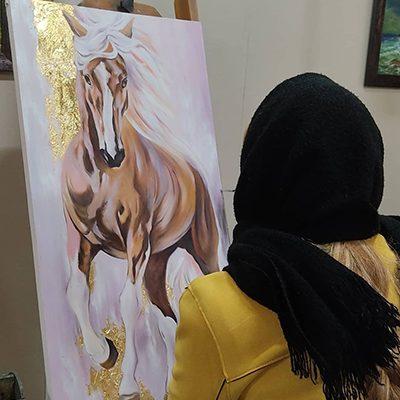 از تمرینات دوره ی رنگ روغن .عاطفه قاسم پور